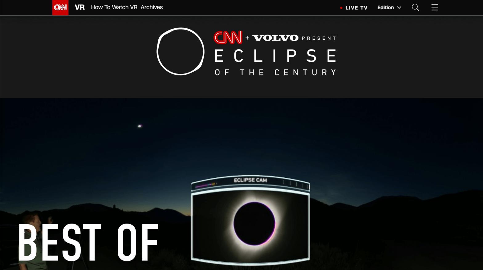 CNN VR Eclipse Live