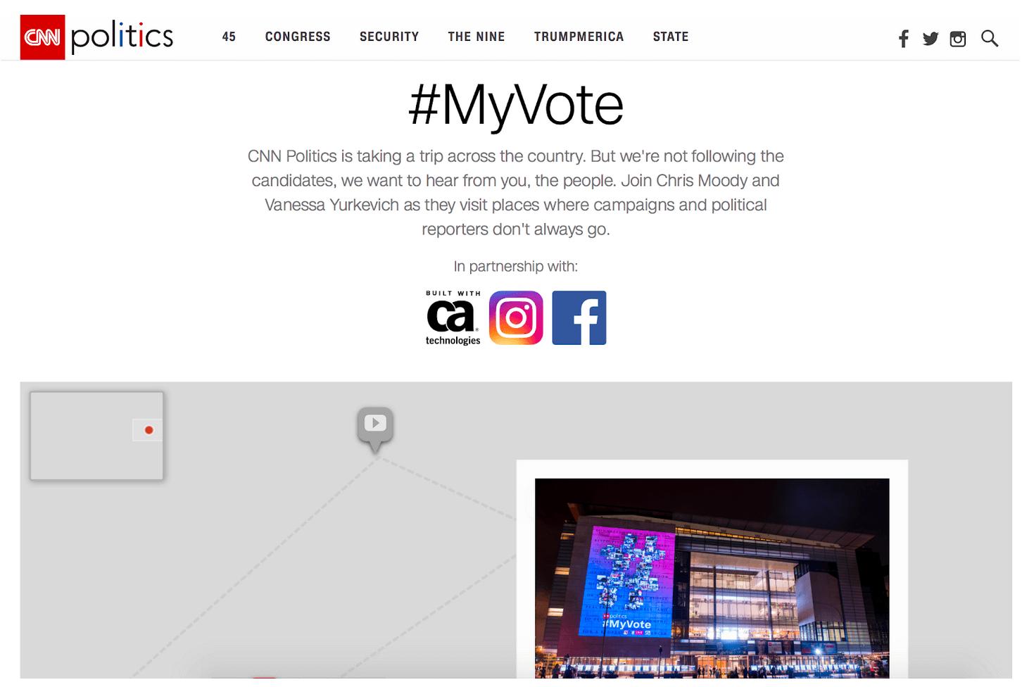 #Myvote & Election Night Coverage